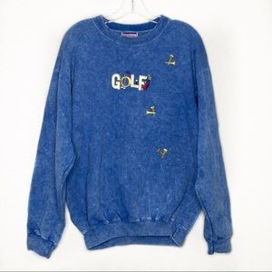 Vintage Golf Acid wash/ marble Sweater